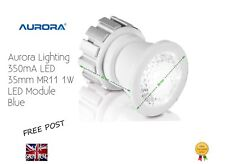 Aurora Lighting 350mA LED 35mm MR11 1W LED Module Blue 12V