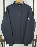 FOOTJOY Size Large 1/2 Zip Mens Stretchy Golf Windshirt Jacket Pullover Black