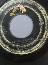 "ELVIS PRESLEY 45 RPM ""Return to Sender"" & ""Where Do You Come From"" G- condition"