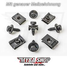 10x Set Metall Halterklammern + Sechskant Schrauben für VW Audi Skoda Peugeot