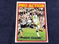G3-86 FOOTBALL CARD - JOHN RIGGINS CARD #126 - 1972 TOPPS