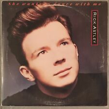 "RICK ASTLEY - She Wants To Dance With Me - 12"" Single (Vinyl LP) - Promo"