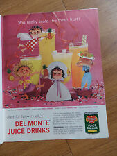 1959 Del-Monte Juice Drinks Ad Pineapple-Grapefruit Orange Pear Apricot