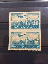 Lebanon Most Impressive Error Stamp 1952 Beirut Airport Recto Verso Print