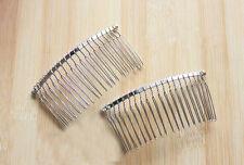Wholesale Blank Metal Hair Clips Side Comb 20 Teeth Bridal Hair Accessories