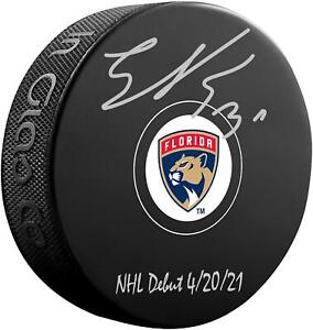 Autographed Spencer Knight Panthers Puck Fanatics Authentic COA Item#11287109