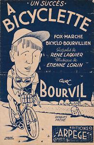 PARTITION A BICYCLETTE BOURVIL LAQUIER LORIN BICYCLO BOURVILLIEN