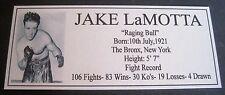Boxing JAKE LaMOTTA Silver new Photo  Free Postage