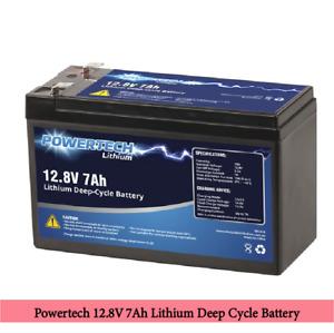 Powertech 12.8V 7Ah Lithium Deep Cycle Battery Ready Stock