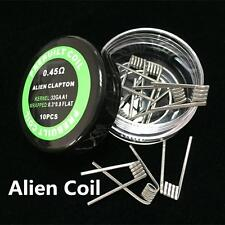 Alien Clapton Coils 0.3*0.8 Flat 32g 0.45 ohm Premade x 10 Coils RTA RBA RDA