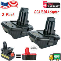 2 pack DCA1820 20V MAX To 18V Adapter Converter For Dewalt 20Volt Li-Ion Battery
