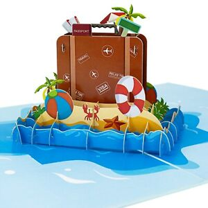 LIMAH® Reisekarte / Urlaubskarte / Geburtstagskarte Pop Up 3D
