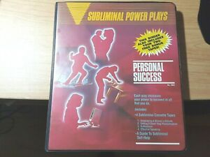 SUBLIMINAL POWER PLAYS * PERSONAL SUCCESS * CASSETTE TAPES- SET OF SIX IN CASE