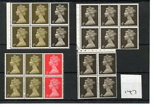GB - MACHIN (147) - BOOKLET & /or COIL STAMPS - selection - Unmounted Mint