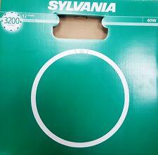 2 x 40W T9 Daylight Sylvania Circular Fluorescent Tube Round 6500k 40 Watt sad
