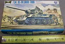 Vintage Partially Built HO Scale (1/87) Russian T34/85 Tank