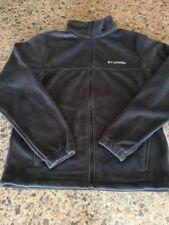 NWT Columbia Men's Size M Black Flattop Mountain Front Full Zip Fleece Jacket.
