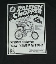 Raleigh Chopper Vintage Muscle Bike Sting Ray Bike Shirt Mens XL The Hot One