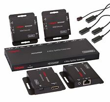 Labgear HDXS450P HDMI 50m 4 Way Splitter Extender Kit With POE Over CAT 5e/6/7