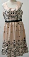 Womens Dress Apricot Black Sleeveless BNWT Sz XL