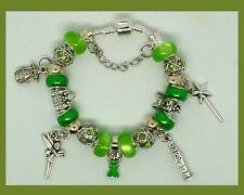 Disney Tinkerbell Themed European Charm Bracelet w/ Sheet of Pandora Gift Wrap