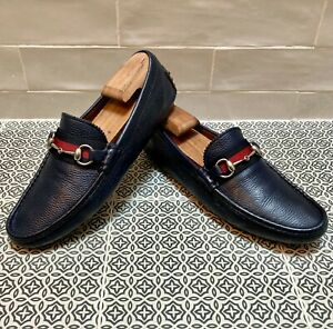 Gucci Men's Horse Bit Driving Moccasins / Loafers size 7.5 G = US 8.5 *Authentic