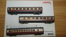 Märklin 43115 Ergänzungswagen zum TEE VT 11.5
