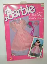 Barbie 1989 Wedding of the Year Bridesmaid Dress Fashion #3790 Pink Outfit