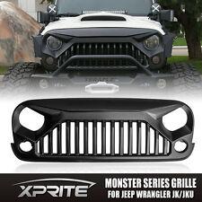 Xprite Angry Monster Bird Matte Black Vader Grille for Jeep Wrangler JK 07-17