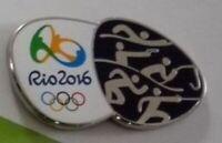 OLYMPICS PIN VINTAGE 2016 PENTATHLON 2020 TOKYO JAPAN OLYMPIC GAMES CANCELLED