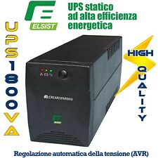 UPS Gruppo di Continuità 1800VA Per Protezione Casa Ufficio Computer Stampante