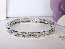 Beautiful Lia Sophia Silver FOILED Stretch Bracelet, Cut Crystals, NWT