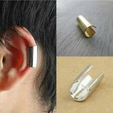 Fashion Men Women Stainless Steel Round Hoop Ear Stud Cuff Clip Earring Punk US