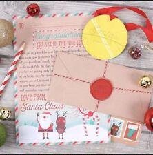 Letter to Santa Kit Christmas Children Post Nice List Stickers Kids Pack