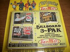 Bar Mills HO/N Scale Laser Cut Billboard 3 Pak #3     # 0232  Bob The Train Guy