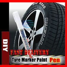 Waterproof Car Tyre Tire Plastic Metal Tread Paint Pen White Marker Motor Bike