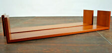 60er 2x Bookcase Vintage Wall Shelf Danish Walnut Regalboard