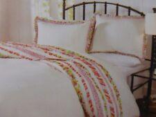3 pc Cynthia Rowley White & Multi Floral Queen Duvet Cover & Shams Set Nip