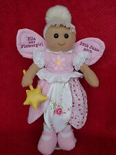 xPERSONALISED RAG DOLL FOR FLOWERGIRL OR BRIDESMAID FAIRY ANGEL WEDDING GIFT