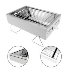 Camping Grill Portable Folding Charcoal Stainless Steel Picnic Barbecue Rack New