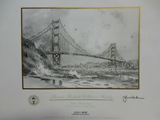Thomas Kinkade Collectors Society Golden Gate Bridge Sketch Numbered w Coa & 2nd