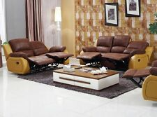 Mikrofaser Relax Schlafsofa Couch Sofa Fernsehsofa Sessel 5129-3+2-PU-04