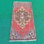 Door mat rug, handmade rugs,oushak rugs,vintage rug bath room rug TR4845