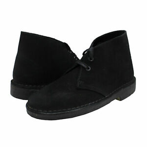 Women's Shoes Clarks DESERT BOOT Lace Up Ankle Booties 55524 BLACK SUEDE