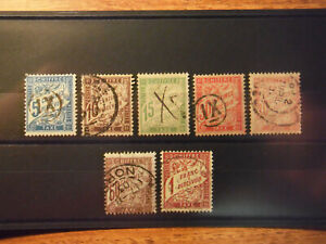 France - Compl. Set of fiscal Stamps Year 1893/96 used. Chiffre Taxe