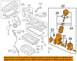 VW VOLKSWAGEN OEM 12-14 Passat Engine-Oil Filter Housing 03L115389H