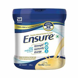 Complete Adult Nutrition Drink From Ensure (400g,Vanilla Flavour) For Strength