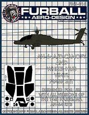 1/48 Furball AH-64 Apache Vinyl Mask Set for the Hasegawa Kit