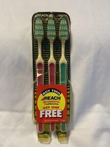 Reach Interdental Toothbrushes Medium Pack Of 3  2 Pink 1 Green