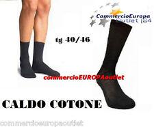 12 PAIA CALZE CALZINI CORTI UOMO NERI CALDO COTONE ELEGANTI TG 40/46 MEN'S